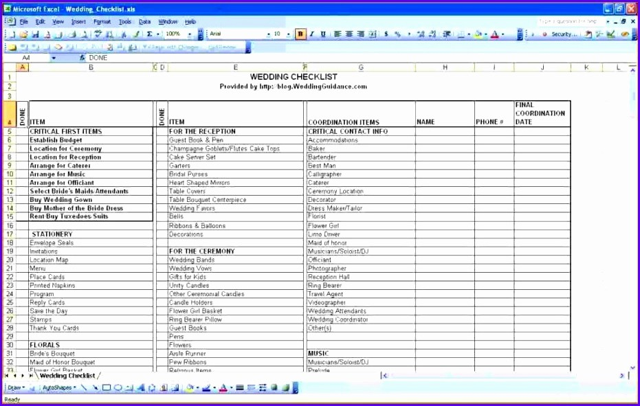 Wedding Guest List Spreadsheet Excel Inspirational 9 Excel Guest List Template Exceltemplates Exceltemplates