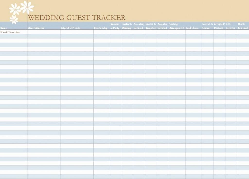 Wedding Guest List Spreadsheet Template Beautiful Wedding Guest List Spreadsheet