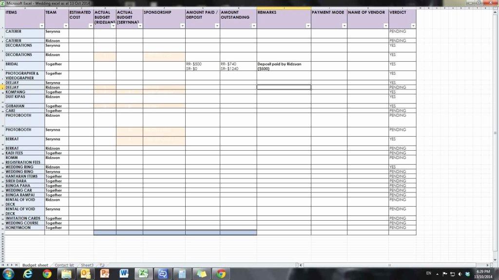 Wedding Guest List Spreadsheet Template Best Of Wedding Spreadsheet Guest List Wedding Spreadsheet