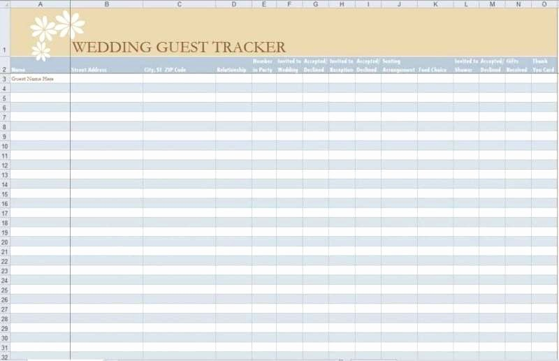 Wedding Guest List Spreadsheet Template Luxury 7 Free Guest List Templates Excel Pdf formats