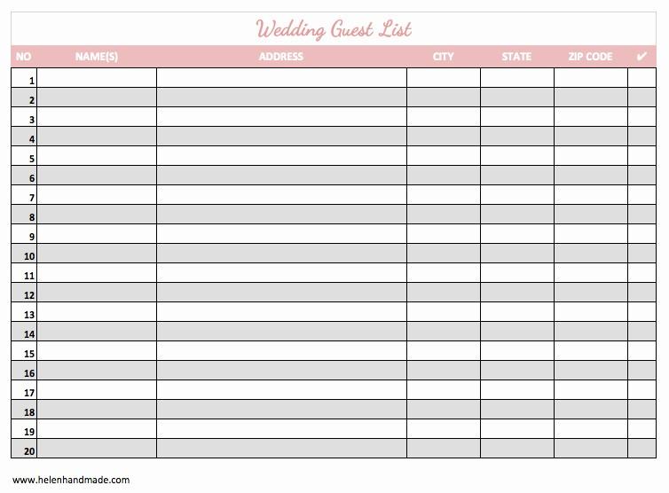 Wedding Guest List Spreadsheet Template New 17 Wedding Guest List Templates Excel Pdf formats