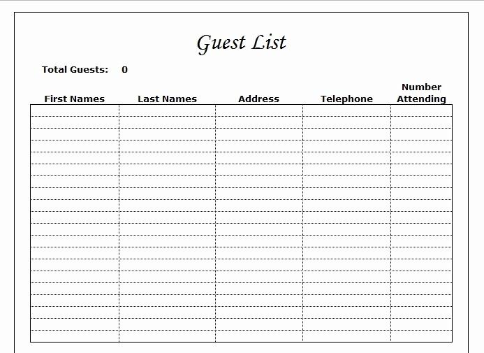 Wedding Guest List Worksheet Printable Awesome Wedding Guest List Worksheet Driverlayer Search Engine