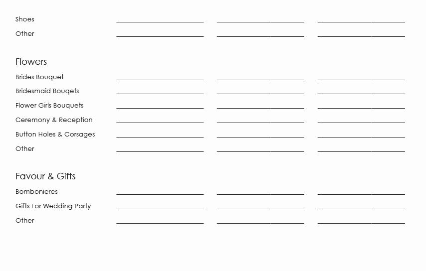 Wedding Guest List Worksheet Printable Beautiful 15 Best Of Wedding Guest List Worksheets