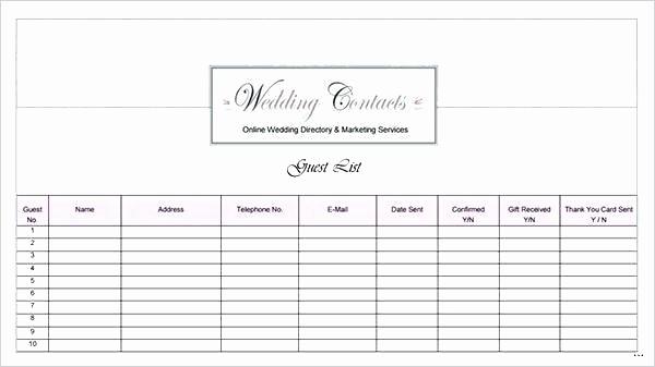 Wedding Guest List Worksheet Printable Beautiful Wedding Guest List Printable Template Grand Captures W