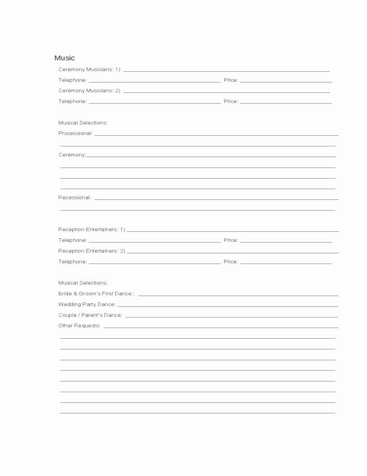 wedding guest list worksheet printable