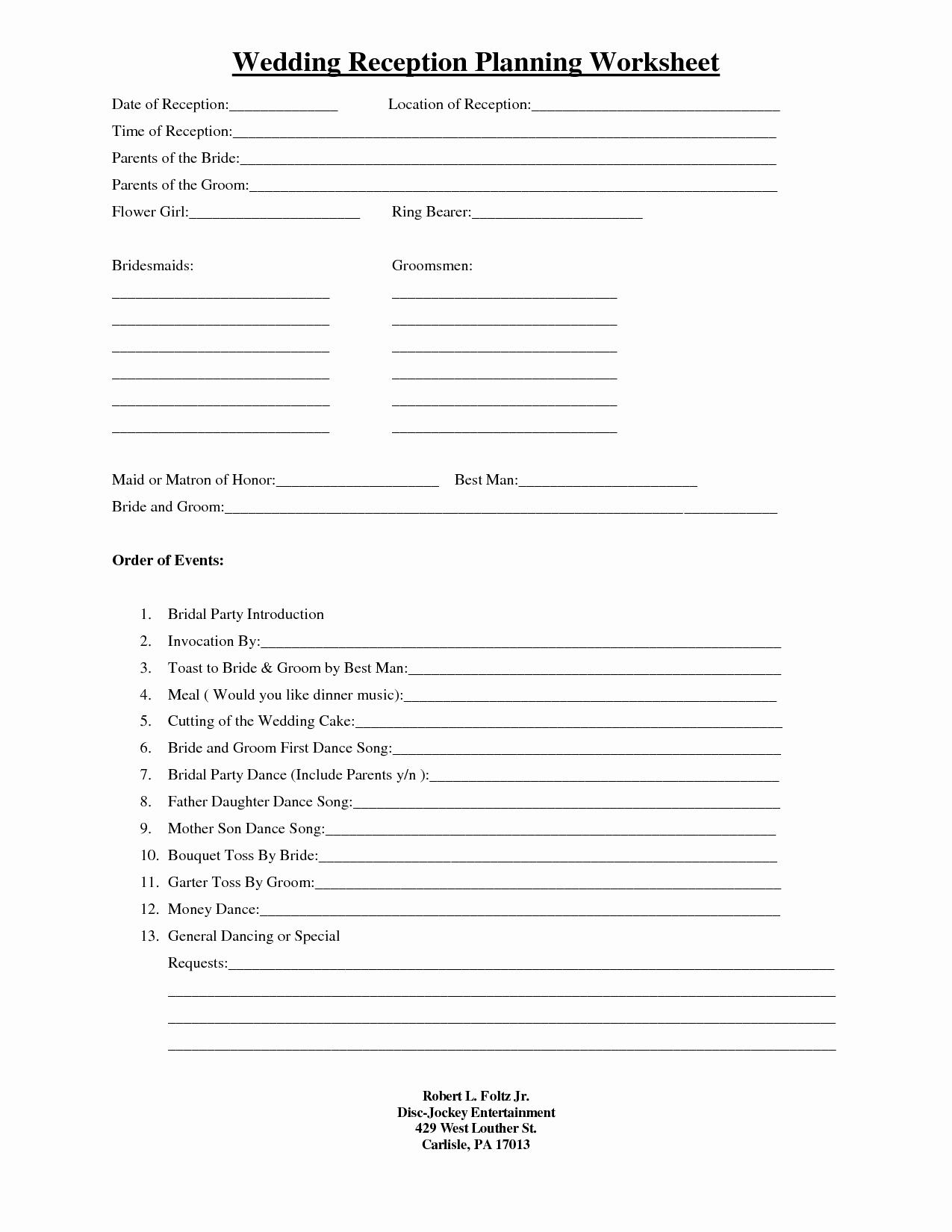 Wedding Guest List Worksheet Printable Elegant 15 Best Of Wedding Guest List Worksheets