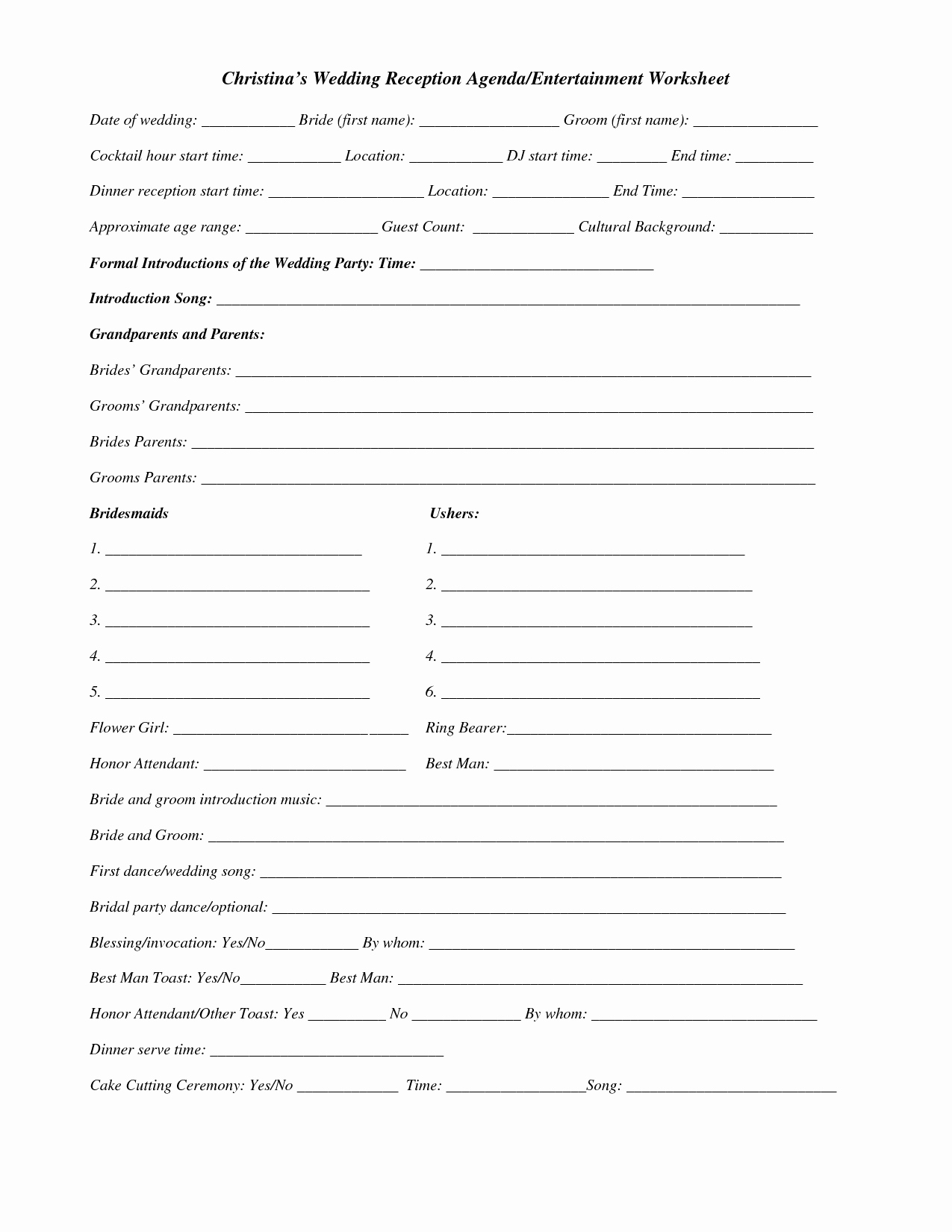 Wedding Guest List Worksheet Printable Fresh 15 Best Of Wedding Guest List Worksheets