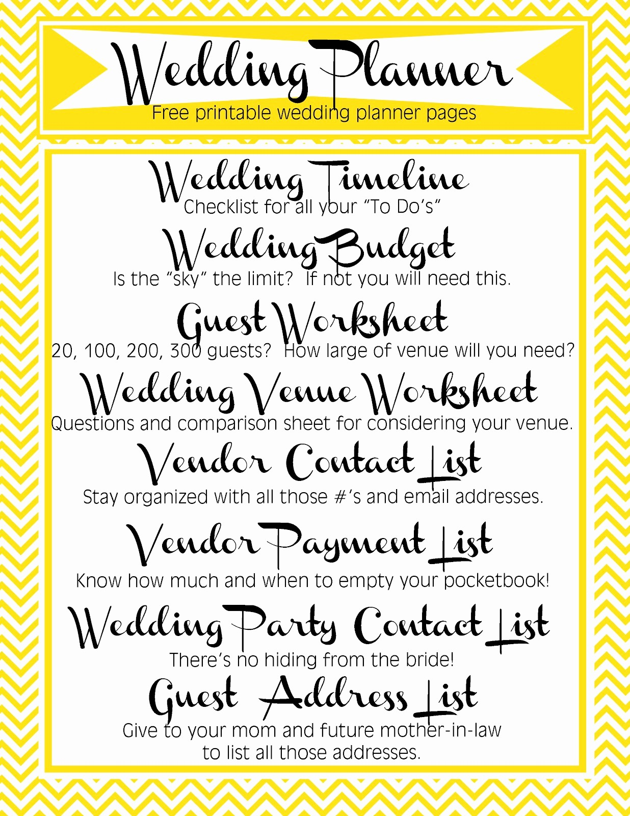 Wedding Guest List Worksheet Printable Fresh Free Printable Wedding Planner Pages Video Search Engine