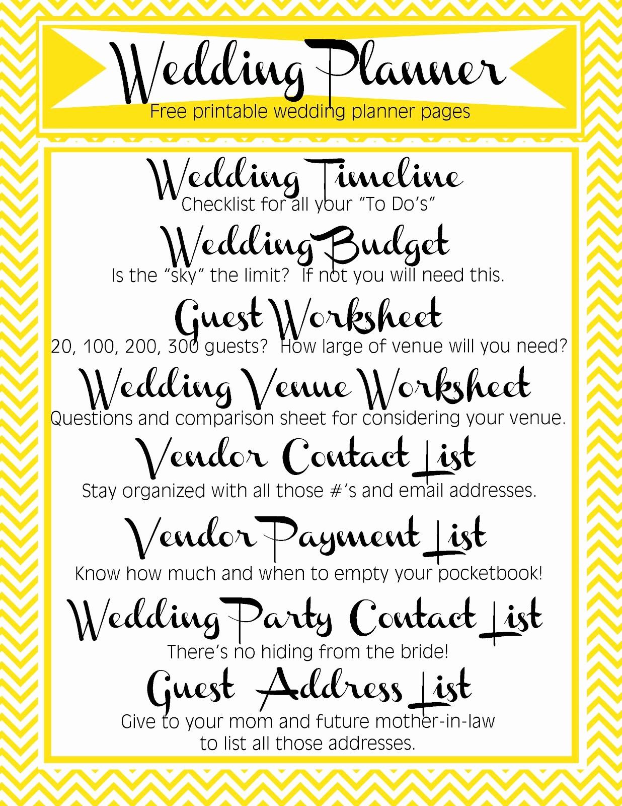 Wedding Guest List Worksheet Printable Fresh Free Printable Wedding Planner Pages Video Search Engine