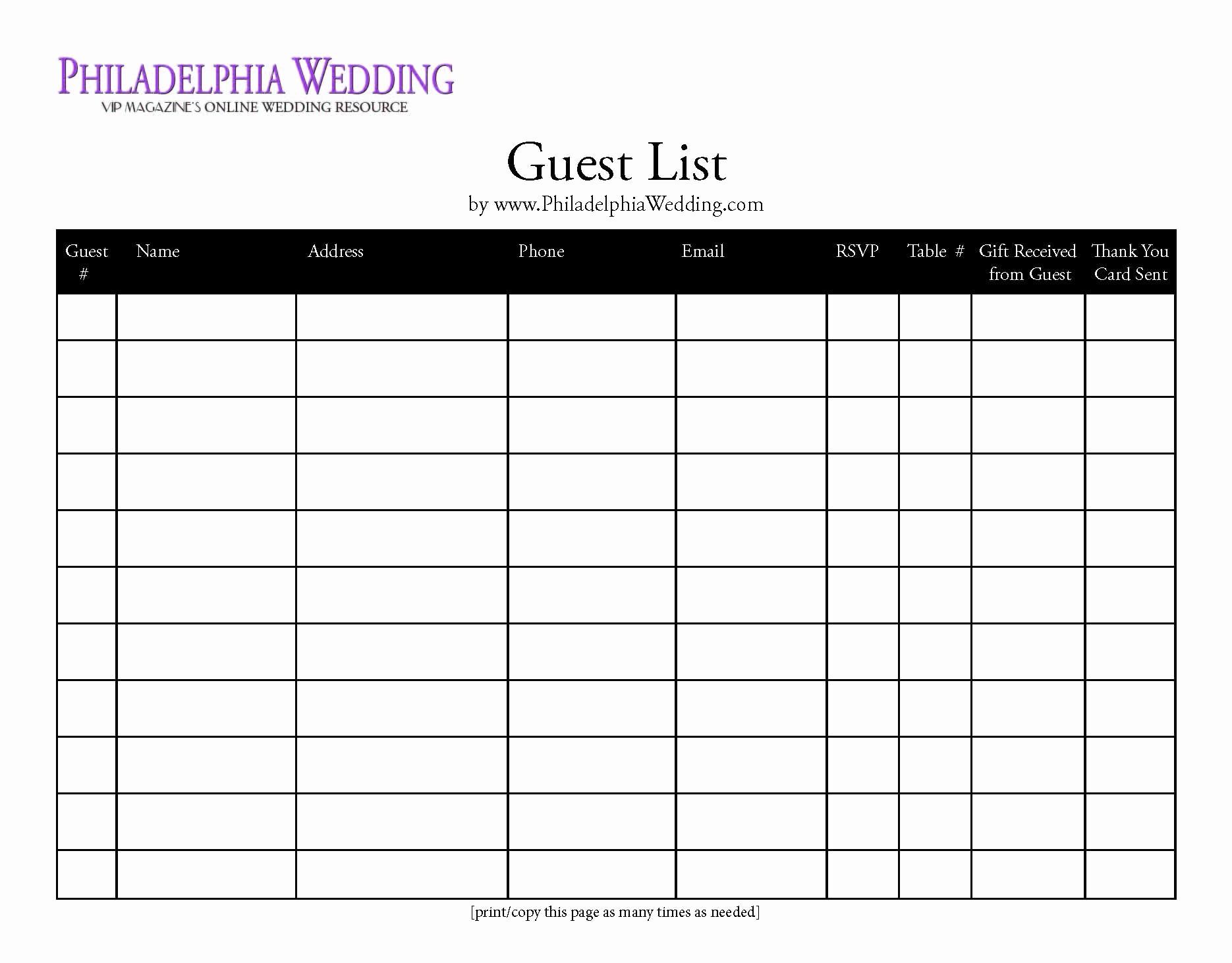Wedding Guest List Worksheet Printable Luxury Pin Wedding Bud Worksheet On Pinterest
