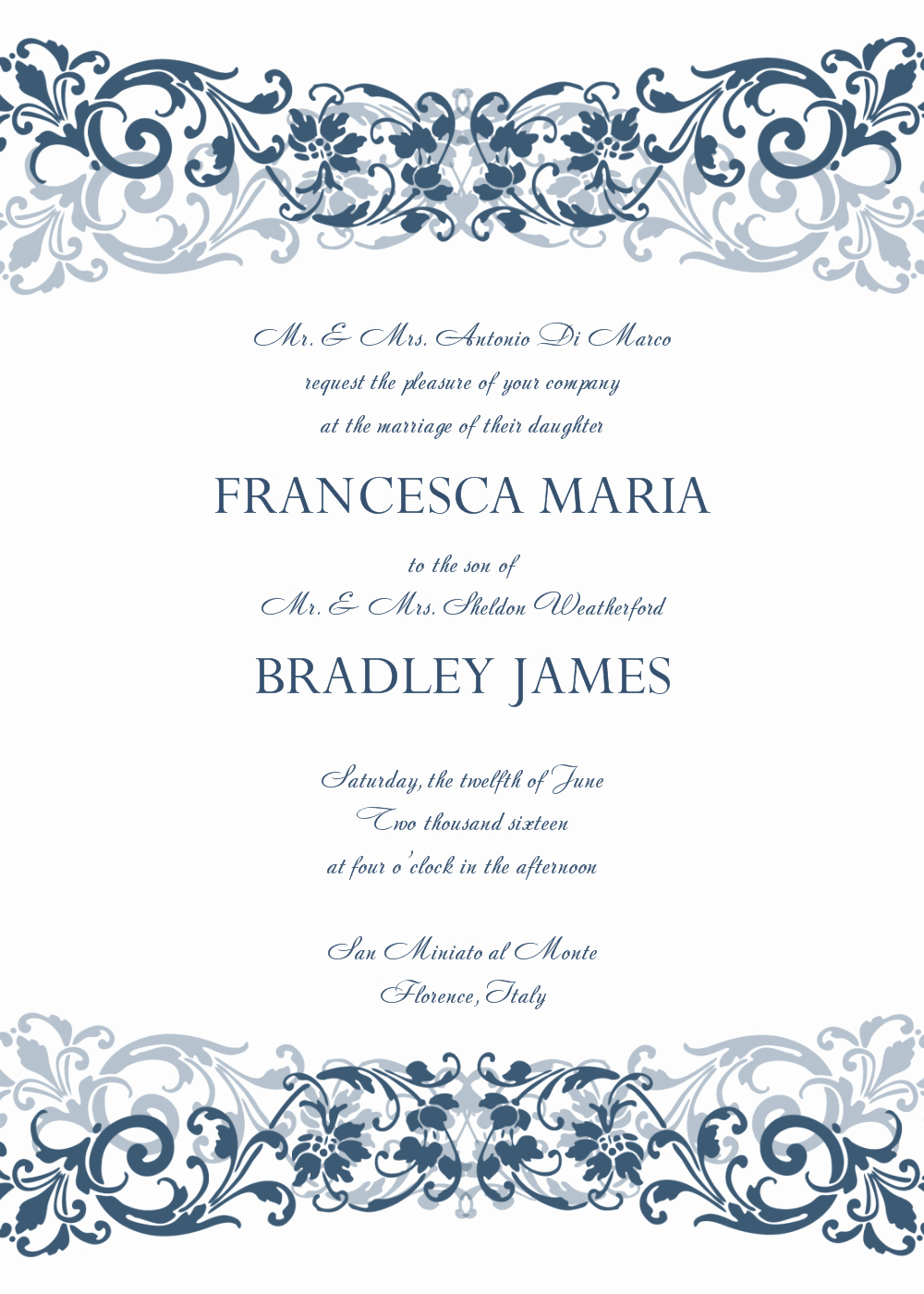 Wedding Invitation Template Word Free Awesome 8 Free Wedding Invitation Templates Excel Pdf formats