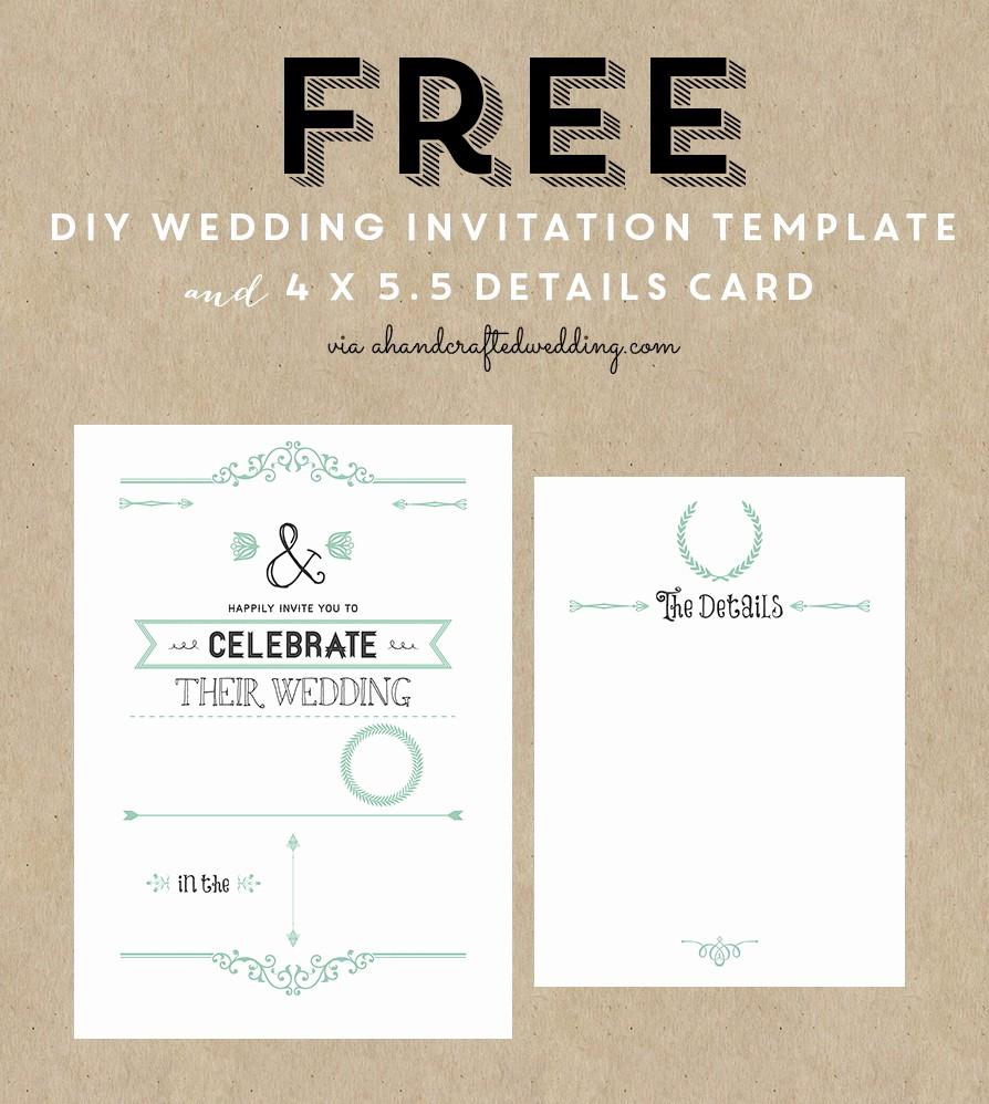 Wedding Invitation Template Word Free Beautiful Printable Wedding Invitation Templates Free Printable