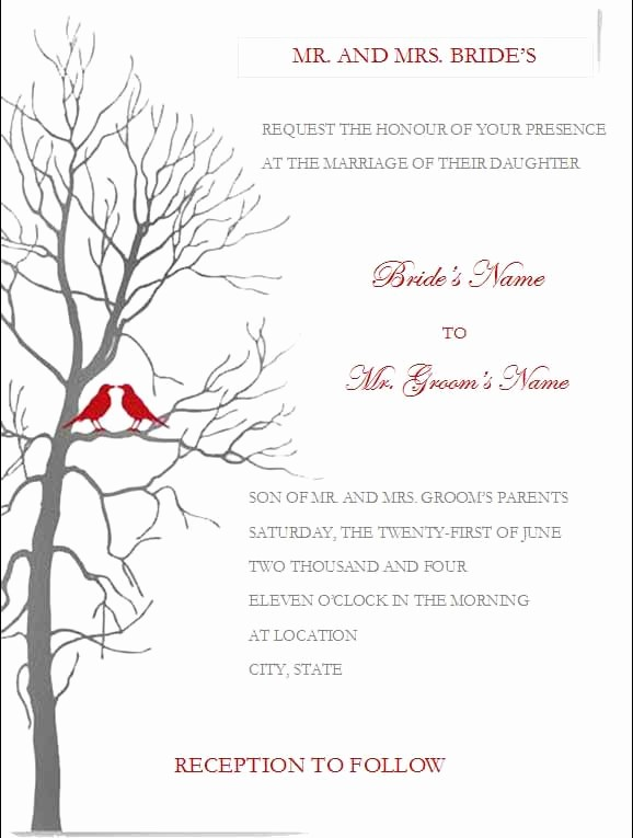 Wedding Invitation Template Word Free Best Of Free Wedding Invitation Templates for Microsoft Word