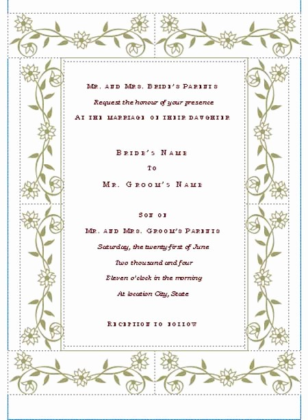 Wedding Invitation Template Word Free Elegant Hohmannnt Unique Wedding
