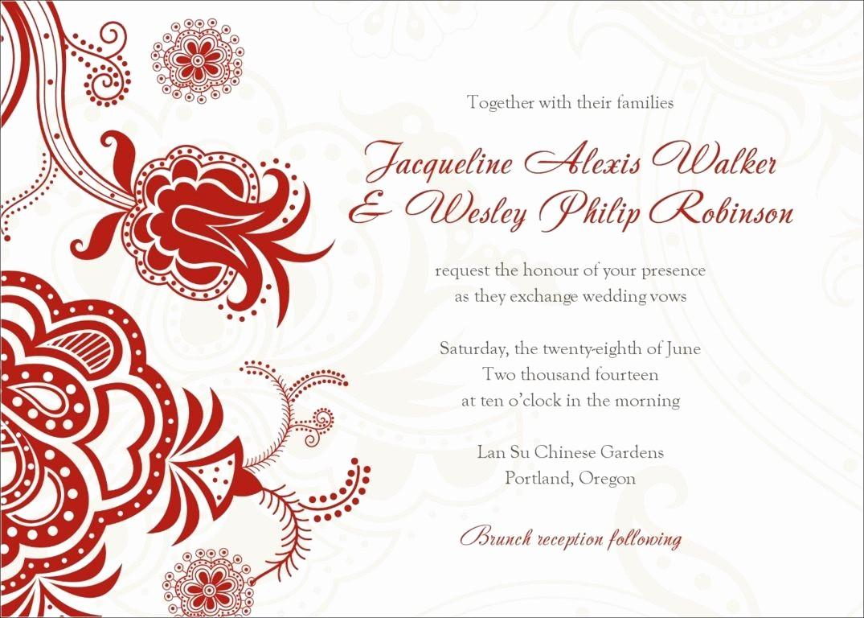 Wedding Invitation Template Word Free Elegant Invitation Word Templates Free Wedding Invitation