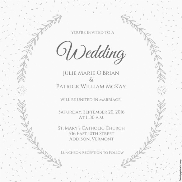 Wedding Invitation Template Word Free Elegant Wedding Invitation Template 71 Free Printable Word Pdf
