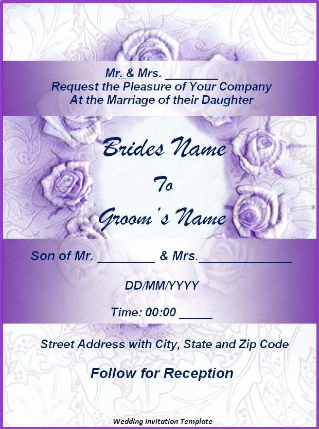 Wedding Invitation Template Word Free Elegant Wedding Invitation Templates