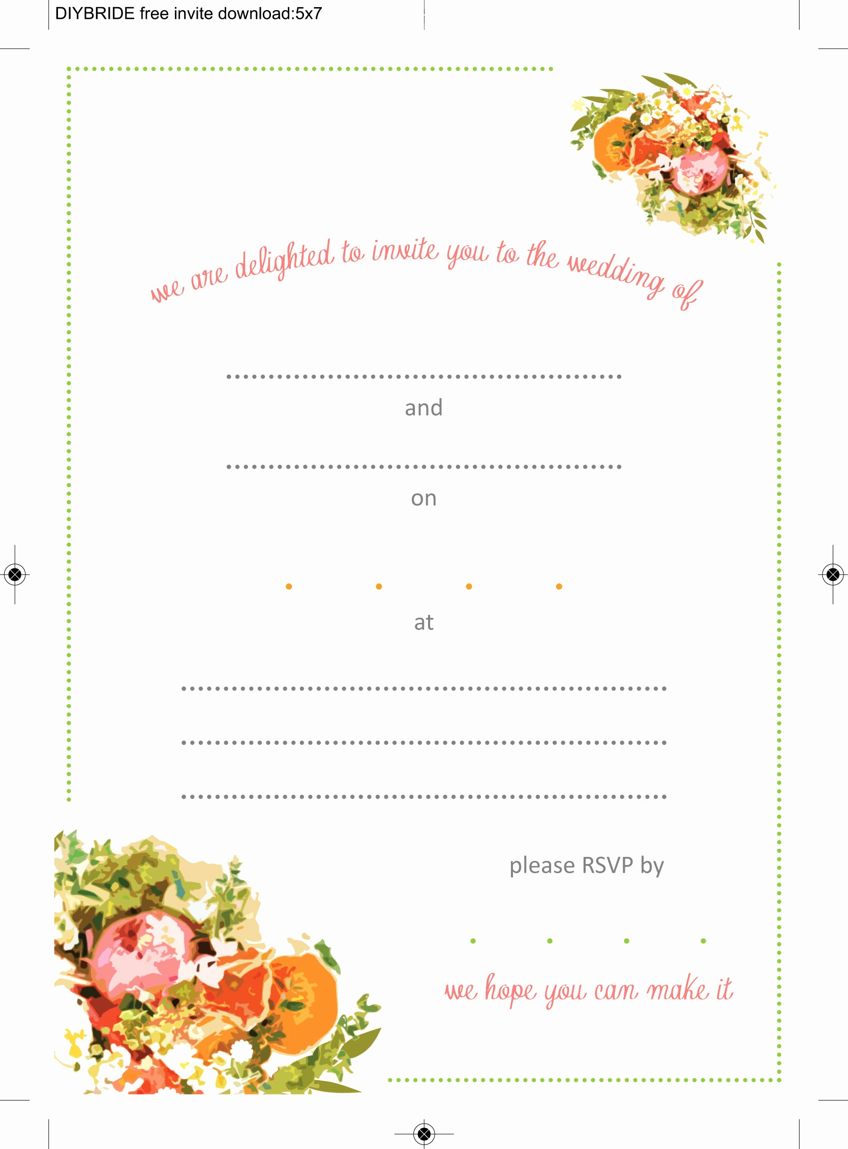Wedding Invitation Template Word Free Fresh Wedding Invitation Templates that are Cute and Easy to