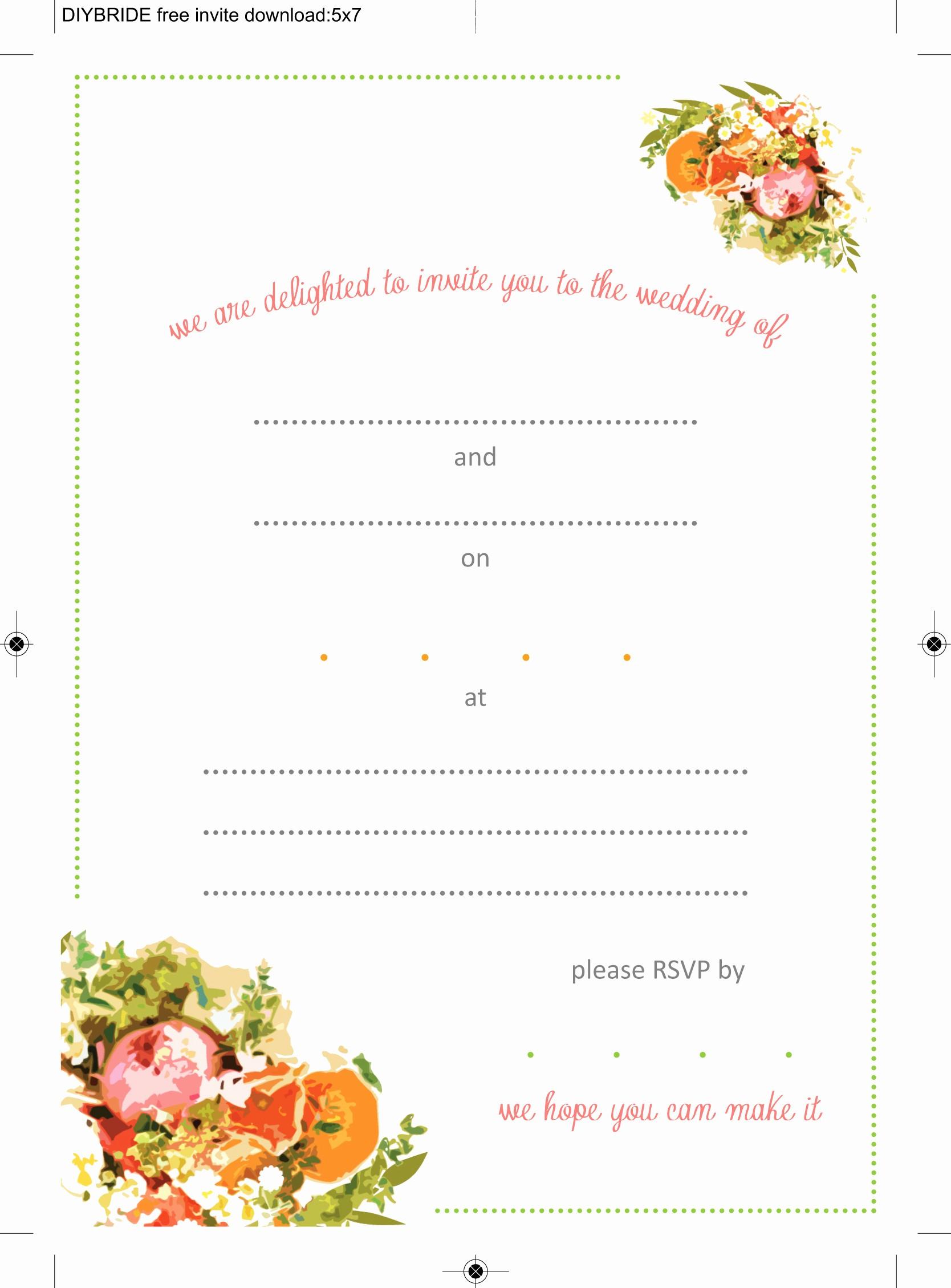 Wedding Invitation Template Word Free Fresh Wedding Invitation Templates that are Cute and Easy to