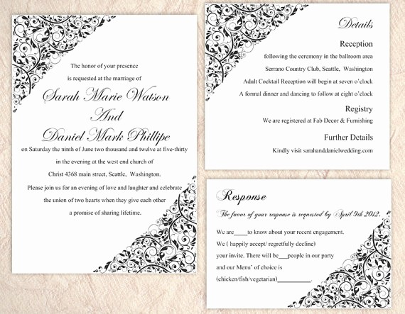 Wedding Invitation Template Word Free Inspirational Wedding Card Template Word Templates Data