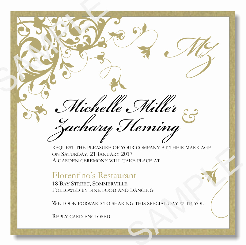 Wedding Invitation Template Word Free Lovely Bud Wedding Invitations Template Wedding Flourish Gold