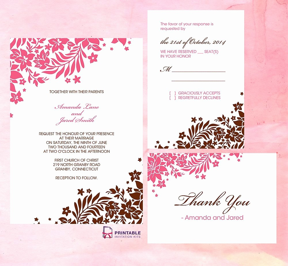 Wedding Invitation Template Word Free Lovely Wedding Invitation Free Wedding Invitation Templates