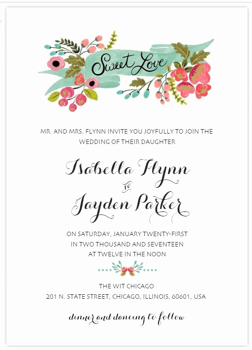 Wedding Invitation Template Word Free Luxury 529 Free Wedding Invitation Templates You Can Customize