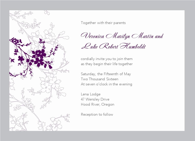 Wedding Invitation Template Word Free Luxury Free Wedding Invitation Templates for Word