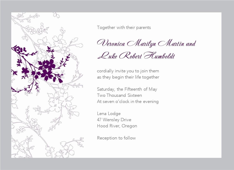 Wedding Invitation Template Word Free Luxury Wedding Invitation Free Wedding Invitation Templates