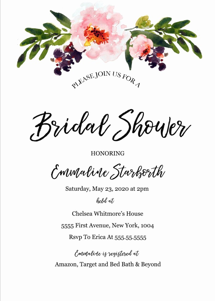 Wedding Invitation Template Word Free New Print Free Wedding Shower Invitation Template