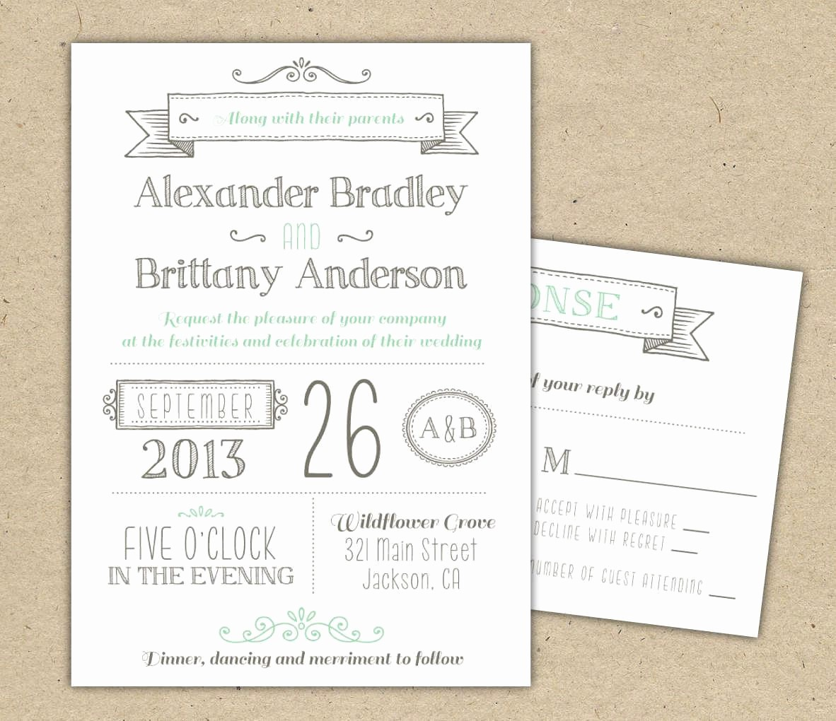 Wedding Invitation Template Word Free Unique Printable Wedding Invitation Templates Free Printable