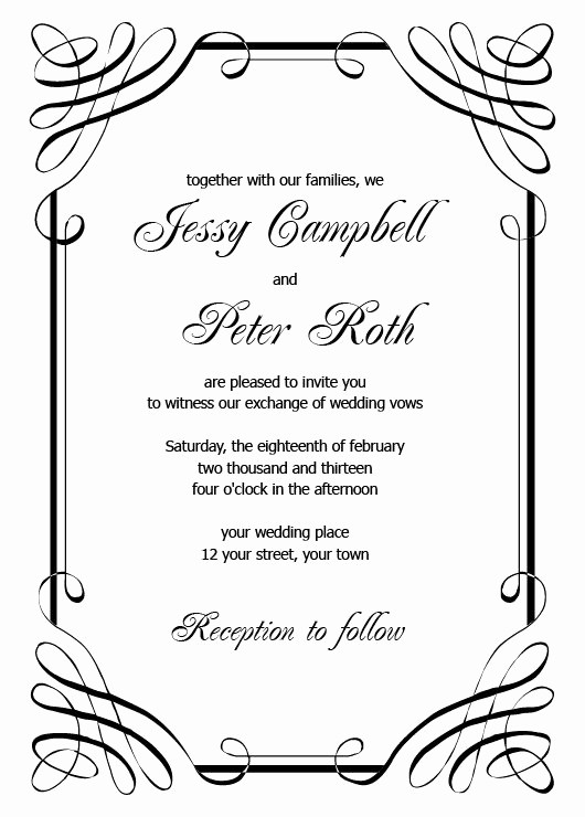 Wedding Invitations Templates Microsoft Word Awesome Wedding Invitations Templates Printable