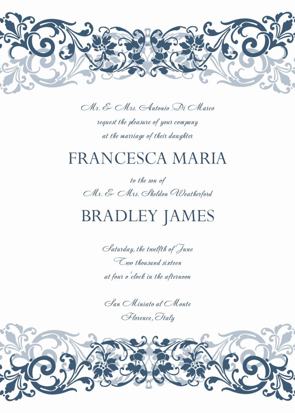 Wedding Invitations Templates Microsoft Word Beautiful 8 Free Wedding Invitation Templates Excel Pdf formats