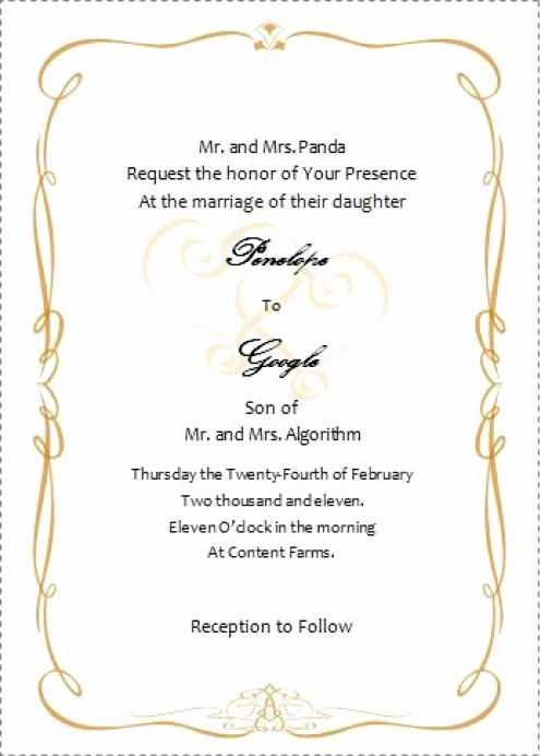 Wedding Invitations Templates Microsoft Word Best Of Wedding Invitation Wording Wedding Invitations Templates