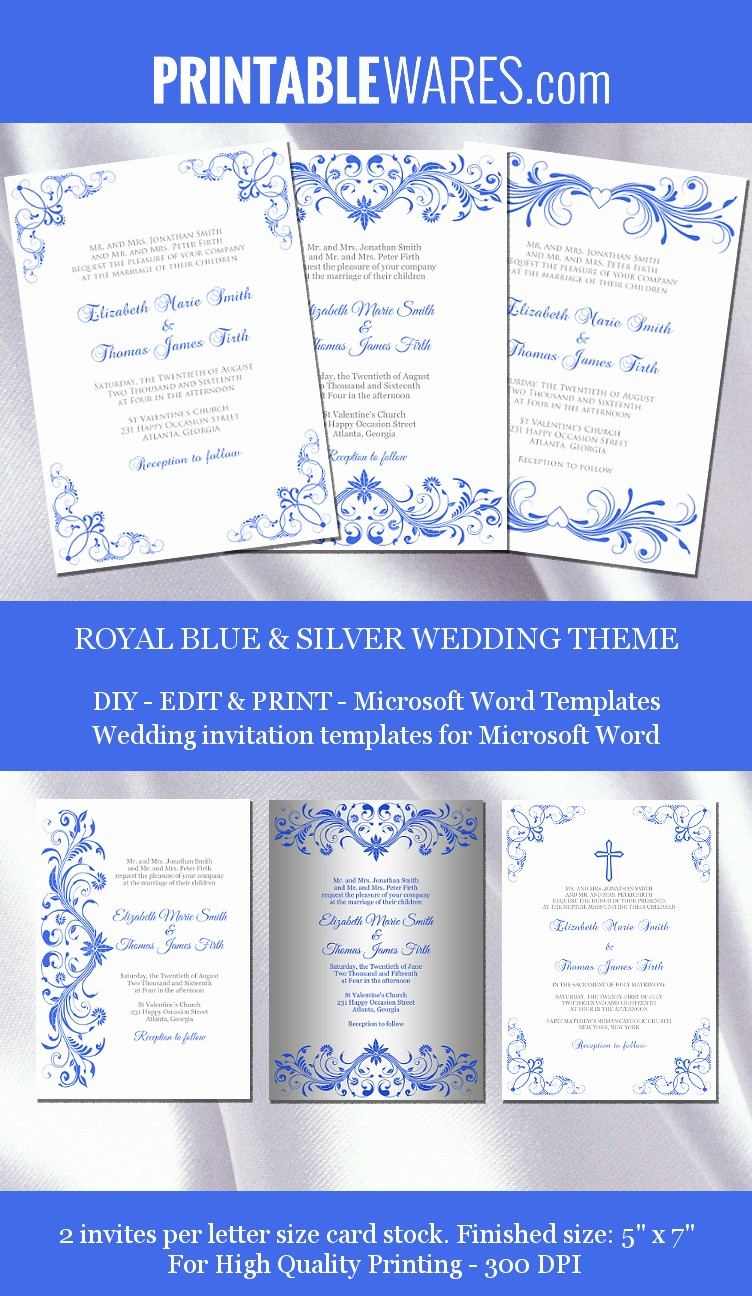 Wedding Invitations Templates Microsoft Word Inspirational Royal Wedding Invitation Templates