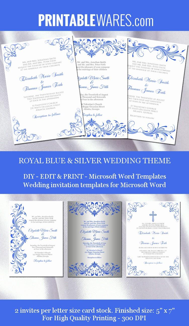Wedding Invitations Templates Microsoft Word Inspirational Royal Wedding Invitation Templates