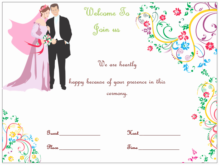 Wedding Invitations Templates Microsoft Word Lovely Wedding Invitation Template S Simple and Elegant