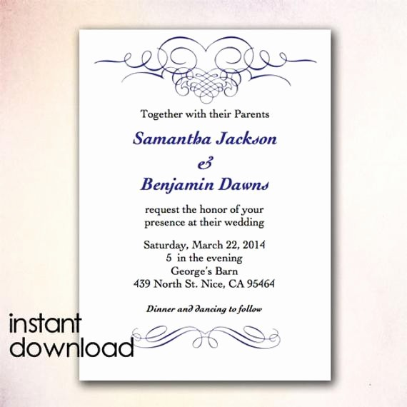 Wedding Invitations Templates Microsoft Word Luxury Wedding Invitation Wording Microsoft Wedding Invitation