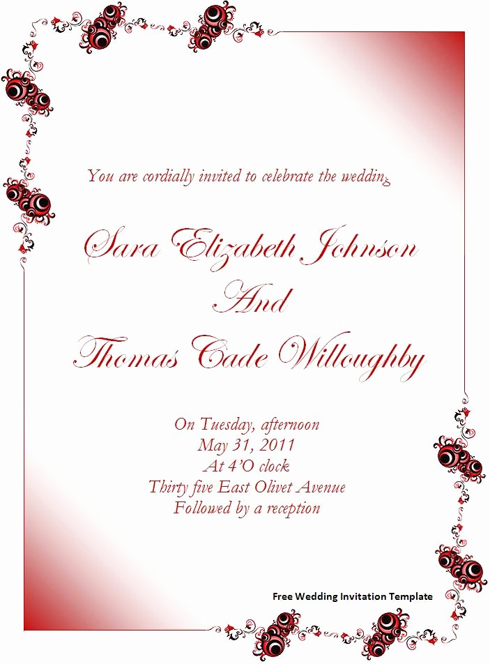 Wedding Invitations Templates Microsoft Word New Invitation Template Word