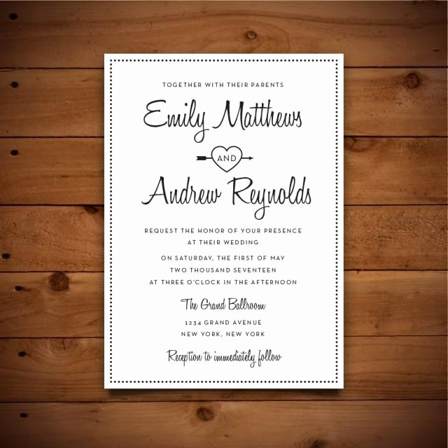 Wedding Invitations Templates Microsoft Word New Printable Vintage Style Wedding Invitation Template Dark