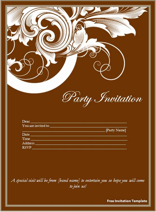 Wedding Invitations Templates Microsoft Word Unique Invitation Template Word