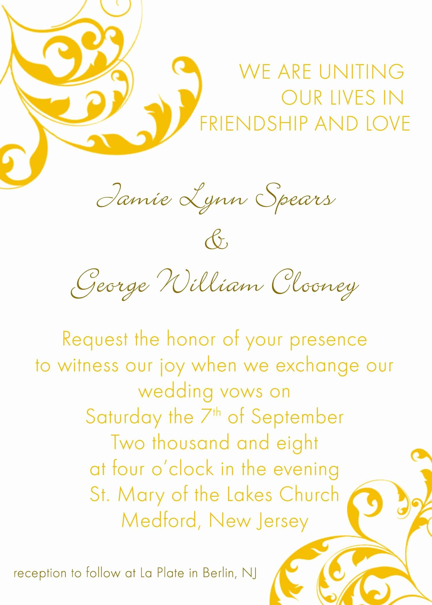 Wedding Invitations Templates Microsoft Word Unique Invitation Word Templates Free Wedding Invitation
