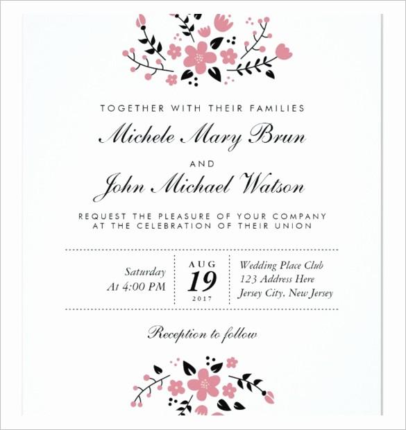 Wedding Invitations Templates Word Free Beautiful Wedding Invitation Template 71 Free Printable Word Pdf