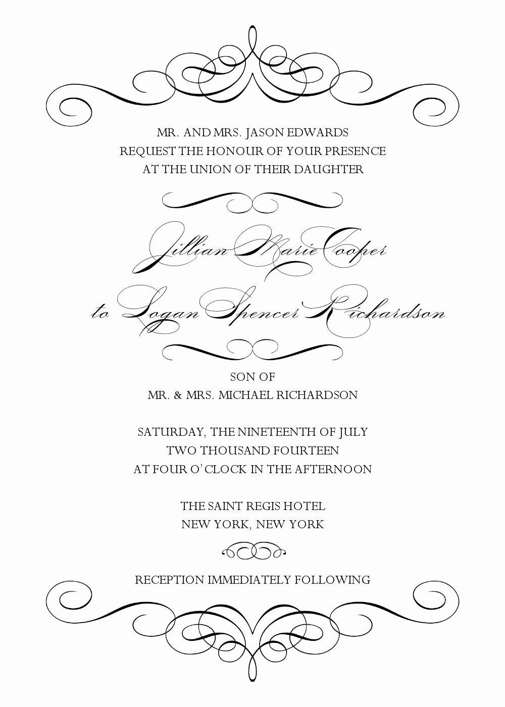 Wedding Invitations Templates Word Free Beautiful Wedding Invitation Wedding Invitation Templates Word