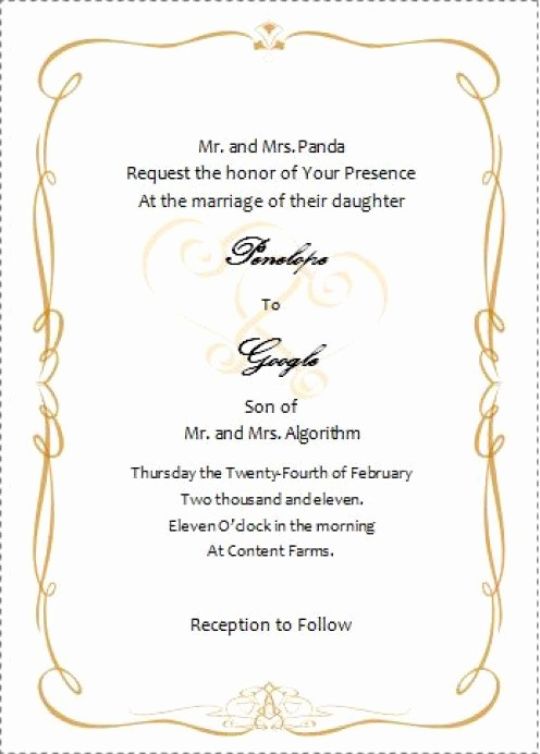 Wedding Invitations Templates Word Free Best Of 496x692 source Mirror