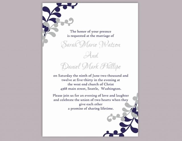 Wedding Invitations Templates Word Free Best Of Diy Wedding Invitation Template Editable Word File Instant