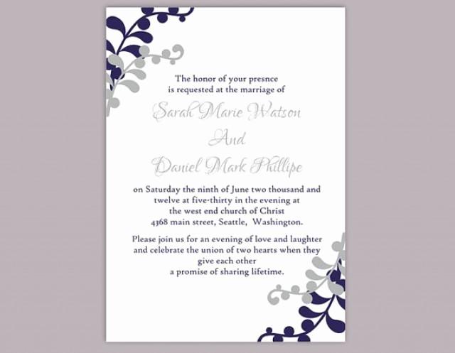 Wedding Invitations Templates Word Free Best Of Diy Wedding Invitation Template Editable Word File Instant