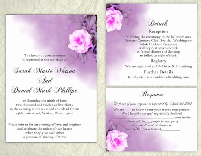 Wedding Invitations Templates Word Free Best Of Diy Wedding Invitation Template Set Editable Word File
