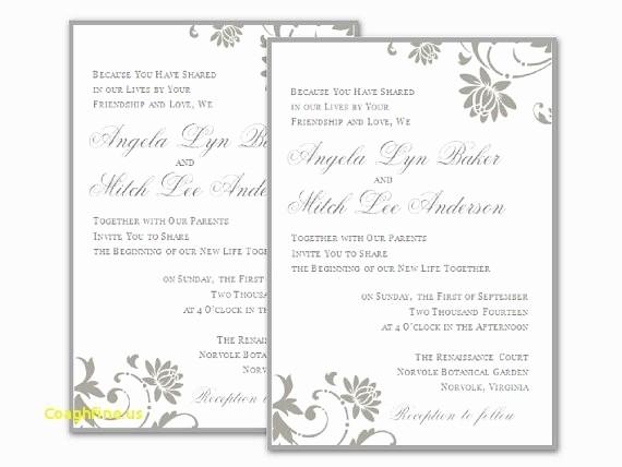 Wedding Invitations Templates Word Free Elegant Download Free Wedding Invitation Templates for Word
