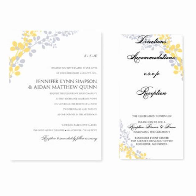 Wedding Invitations Templates Word Free Elegant Wedding Invitation Templates Microsoft Word